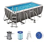 Bestway Power Steel - Piscina Rectangular (412 x 201 x 122 cm)
