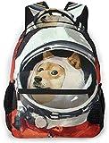 Cosmonautas Perros Casco Space School Mochila Adolescentes Niñas Niños Niños Mochilas Escolares Mochila