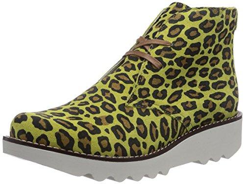 Sanita Kristina Boot, Bottes Desert Courtes, Doublure Froide Femme - Vert - Grün (Lime Leopard / 41), 41 EU