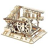 ROKR コースター 水車 コグ 立体パズル 機械模型マニア ギア 手回し 木製 クラフト プレゼント (コグ)
