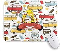 PATINISAマウスパッド 新しいスクールバスキリンの矢印 ゲーミング オフィス最適 高級感 おしゃれ 防水 耐久性が良い 滑り止めゴム底 ゲーミングなど適用 マウス 用ノートブックコンピュータマウスマット
