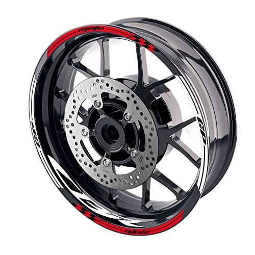 MC MOTOPARTS - Adhesivos para llanta de rueda (17', GP02, para CBR1000RR CBR600RR CBR 650F 600F 17 18 19 20, color rojo)