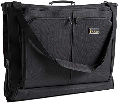 Golden State Ink Miglior porta abiti - Carry Nero Su Suit Bag Dress for Travel & Business Trips-w/Hanging Hook & spalla Strap- per uomini e donne - pieghevoli Armadio Carrier Deposito