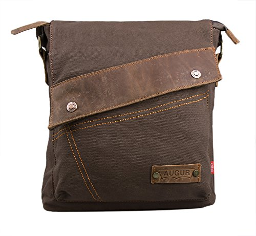 Genda 2Archer Canvas sac d'épaule Casual Messenger Bag (Café)