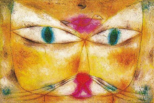 1art1 Paul Klee - Katze Und Vogel, 1928 XXL Poster 120 x 80 cm