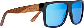 Zebra Wood Aviator Wrap Sunglasses with Polarized Lenses