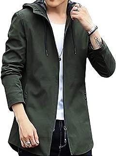 Mikino メンズ ミリタリー コート スタイリッシュ トレンチ アウター ジャケット フード付き 防風 防寒 カジュアル