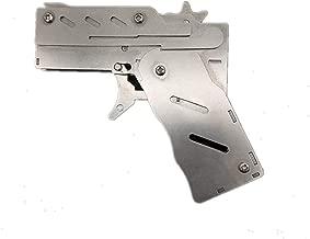 sanheng fire Folding Gun Metal Rubber Band Transmitter 6-Bursts Kids Toys Set with Target