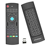 MX3 Pro Backlight 2.4G Mini Wireless Keyboard Air Remote Mouse 3D Fly Remote Controller Built-in 3-Gyro 3-Gsensor with Nano USB Receiver Perfect for Android TV Box IPTV Mini PC Smart Projector