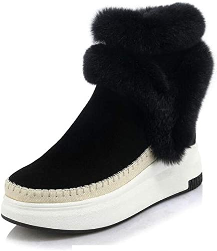 FHTDW Calzado De damen, Stiefel De Nieve Con Cordones De Invierno De Confort Stiefel De Moda Para Damas Parte Inferior