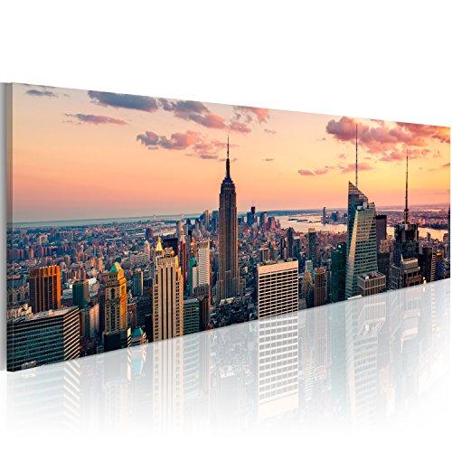 murando Quadro New York 150x50 cm Stampa su tela in TNT XXL Immagini moderni Murale Fotografia Grafica Decorazione da parete 1 pezzo Skyline NY City Citta 9020119