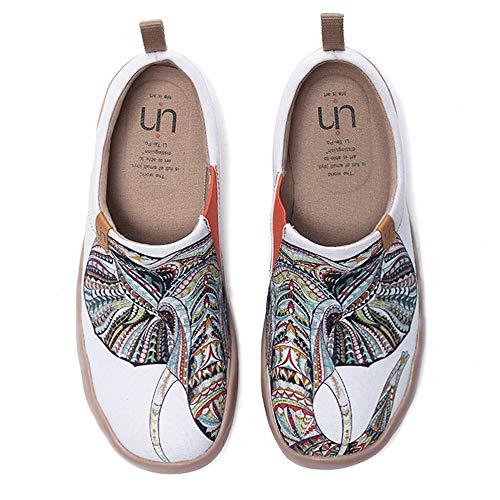 UIN Damen Herren Fashion Tribe Art Sneaker bemalte Leinwand Slipper Damen Reiseschuhe Unisex(36)