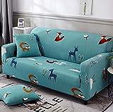 PPOS Sala de Estar Funda de sofá en Forma de L Four Seasons Funda de sofá con Todo Incluido Funda de sofá de Esquina Suave Funda de sofá Universal D9 3 plazas 190-230cm-1pc