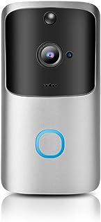 Wifi trådlös videodörrklocka 720P infraröd nattvision fjärrvy video dörrklocka rörelsedetektion hemsäkerhet dörrklocka (in...