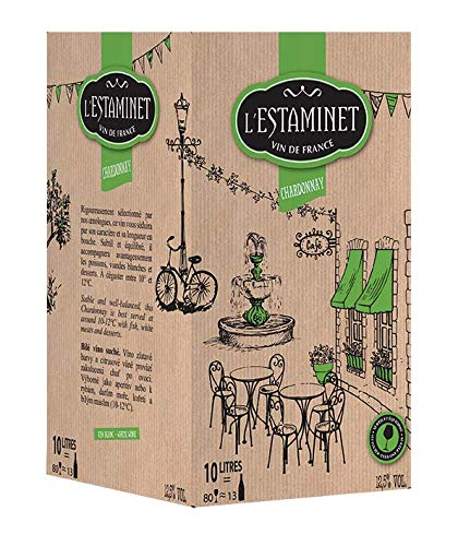 LESTAMINET Chardonnay VDF Blanc Bib 10 L