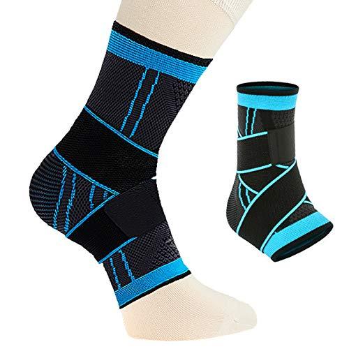 1 par de Vendajes de pie Deportivo Calcetines de compresión Unisex Material de Nylon Antideslizante para el talón Spur Aquiles tendones
