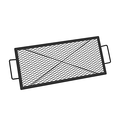 onlyfire Barbecue Rectangle X-Marks Fire Pit Cooking Grate, 32-Inch