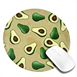 Shushubiaodian Avocado 1 Pac 2Pac 4Pac Mouse Pad,Round Mouse Mat, Cute Mouse Pad with Design,Non-Slip Rubber Base Mousepad with Stitched Edge, Waterproof Office Mouse Padsmall(8x8 Inch)