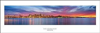 Award Winning Panoramic Art Print Poster #4- San Francisco Sunset, Golden Gate Bridge Panoramic (Panorama)
