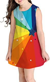 K-youth® Vestido para niña Fiesta Vestidos de Dibujos Animados de impresión en 3D sin Mangas para niños pequeños Ropa para...