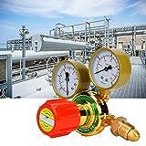 Régulateur de gaz, WX-YQE-03/60 Manomètre à acétylène Détendeur de gaz à acétylène pour kit de coupe de soudage au chalumeau à gaz G5/8 CGA580(Régulateur de gaz)