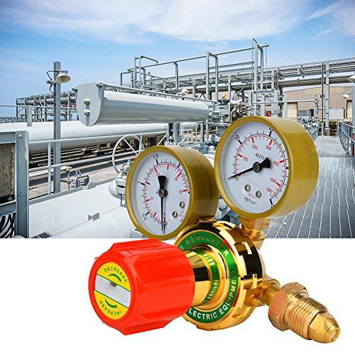 CHICIRIS Régulateur de gaz, WX-YQE-03/60 Manomètre à acétylène Détendeur de gaz à acétylène pour kit de coupe de soudage au chalumeau à gaz G5/8 CGA580(Régulateur de gaz)