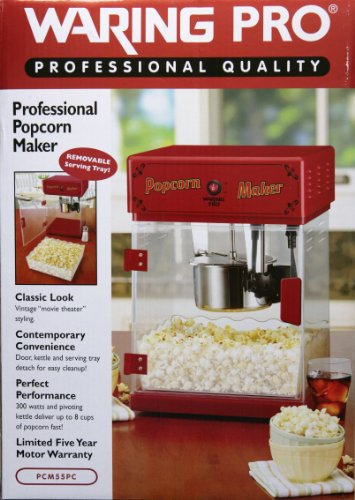 Review Waring Pro Professional Popcorn Maker, Make 8 Cups Fast