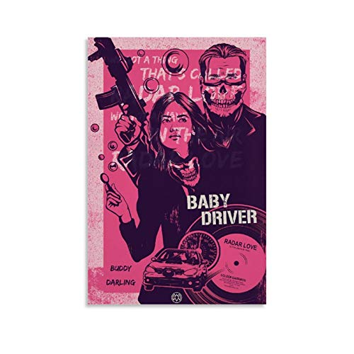 DRAGON VINES Poster imprimé BabyDriver - Rose - 20 x 30 cm