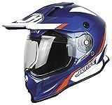 Just 1 casco de motocross J14 Adventure Line azul y blanco, talla XS (53/54)