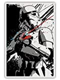 Star Wars Poster Black And White Painting Stormtrooper Poster Living Room Office Bedroom Wall Decoration UnFramed 16x24 Inch, Canvas Rolls (16inx24in-no frame,white)