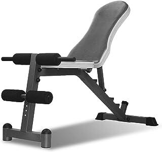 Honana マルチシットアップベンチ フルボディワークアウト用傾斜シットアップベンチフラットAB取締役会アジャスタブルトレーニング機器折り畳み式のフィットネストレーニングウェイトベンチ 腹筋 背筋 折りたたみ