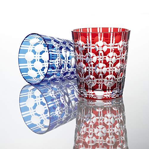 NARUMI(ナルミ) ペア グラス グラスワークス エタニティー ブルー&レッド 250cc GW6057-2270