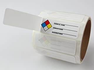 Accuform Signs LZN401EV Self-Laminating NFPA Common Chemical Identifier Labels, 1
