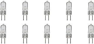 Pack of 10 JCD Type G5.3 Bi Pin Base T3 T4 Capsule Halogen Light Bulb Spot Lamp 240V 2Pin Spotlight Replacement of Househo...