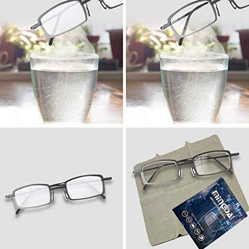 Antibeschlagtuch Microfaser Antibeschlag Brillentuch wiederverwendbar - Antifog Brillenputztuch gegen Beschlagen streifenfrei - Trockenes Putz Reinigungstuch für Brille Sonnenbrille Fernglas (1 Stück)