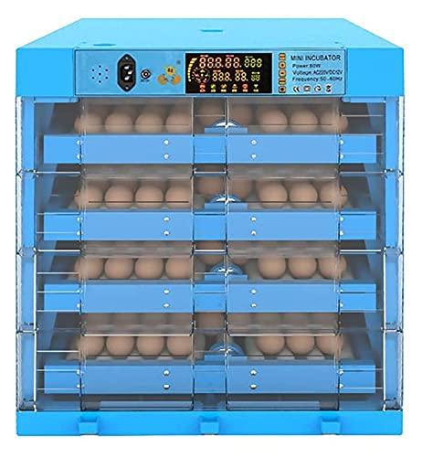 YQQQQ Huevos Incubadoras Automático Turnado y Humedad 256EGG Aves de Aves de Aves de Aves de Aves de Aves de Aves de Pantallas Inteligentes (Color : Blue, Size : 48x48x54cm)