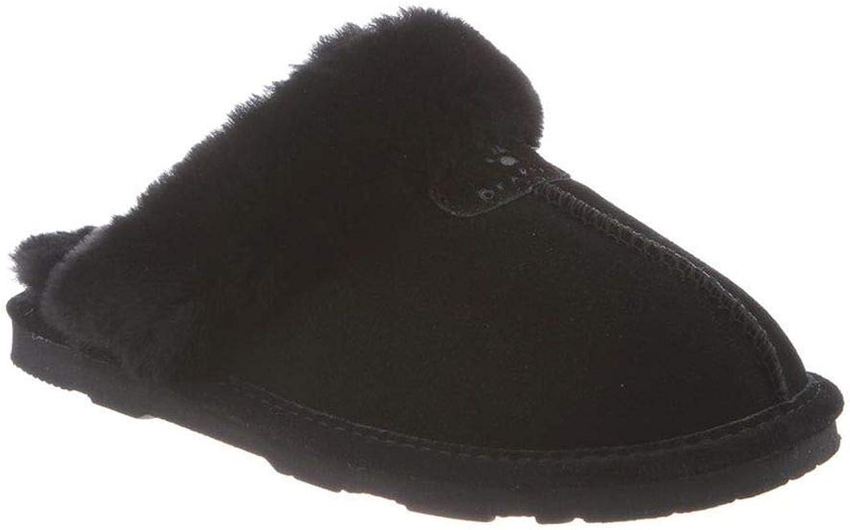 Bearpaw Women's Loki Ii Slide Slipper (7 M US, Black, Black Sheepskin)