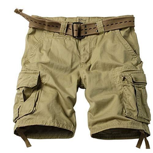 Cargo-Shorts für Herren, koreanischer Stil, Armeegrün Gr. 31W, khaki
