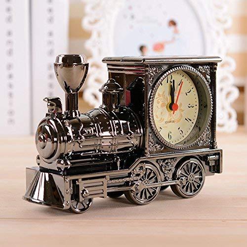 Villa Haus Wecker Kreative Einfache Uhr Dekoration Anordnung Kinder Bett Schlafzimmer Wecker, Grau Wujin Eisenbahn Wecker