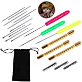 16 Pieces Doll Hair Rooting Holders Reroot Rehair Tools Girls Doll Hair Wig Tools Doll Hair Making Accessories With 1 Pc Bag for Doll Hair Wig DIY Supplies