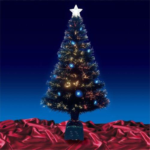 Beautiful 4ft 120cm Black Fibre Optic Christmas Tree