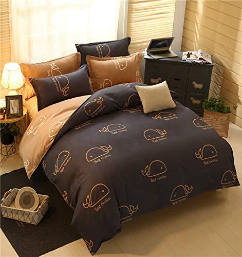 MGORJGR Fashion Bedding Set Pink love Family Set Sheet Duvet Cover Pillowcase Full King Single Queen,bed set