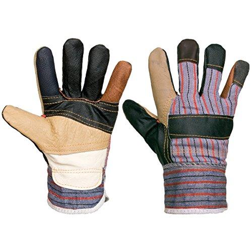 12 Paar Arbeitshandschuhe Sicherheitshaschuhe Mechanikerhandschuhe Leder (RLKPAS-12)
