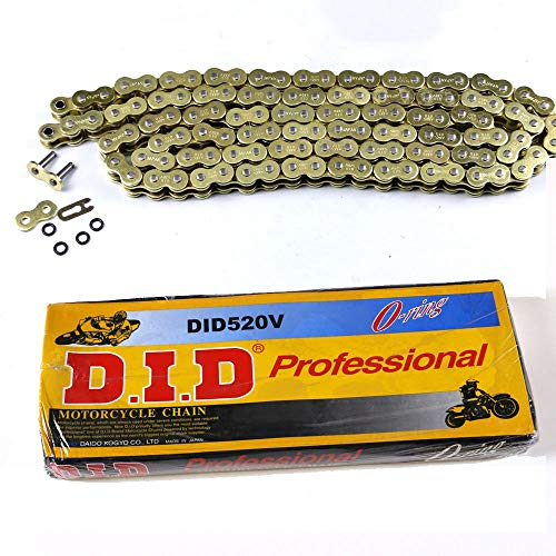 520HV-120L O-Ring Chain with 120 Links ATV Motorcycle MX GOLD 520 Pitch HEAVY DUTY