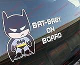 Adesivo baby BATMAN on board per auto (Batman)
