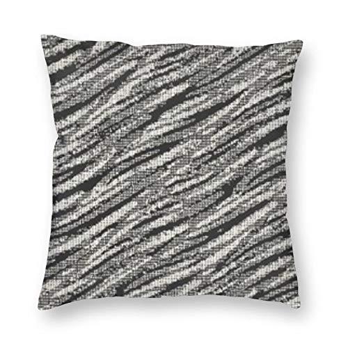 BONRI Funda de almohada cuadrada ondulada con textura de lona envejecida monocromática de 55,8 x 55,8 cm, suave y fácil de cuidar, ligera, antiarrugas, antiincrustante, cremallera invisible