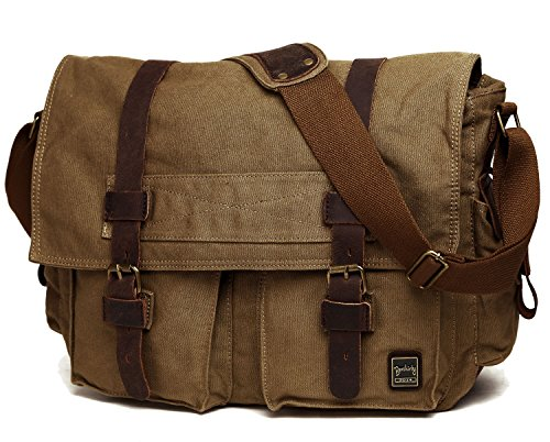 Berchirly Vintage Military Men Canvas Messenger Bag for...