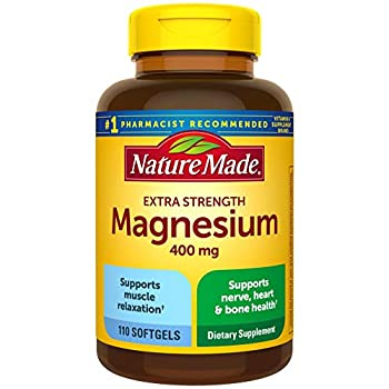 Nature Made Extra Strength Magnesium Oxide 400 mg Dietary Supplement for Muscle Support 110 Softgels 110 Day Supply