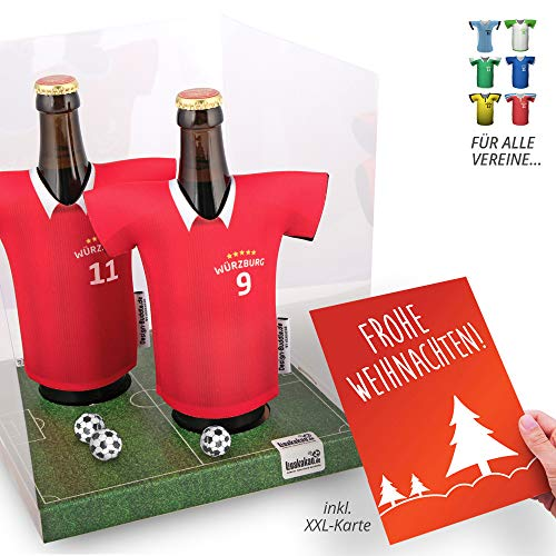 Weihnachts-Geschenk | Der Trikotkühler | Das Männergeschenk für WÜRZBURGER Kickers-Fans | Langlebige Geschenkidee Ehe-Mann Freund Vater Geburtstag | Bier-Flaschenkühler by Ligakakao