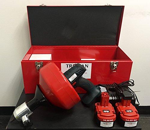 Trojan DT18B Cordless Hand Drill Type Machine (Battery) Plumbing Snake Drain Cleaner